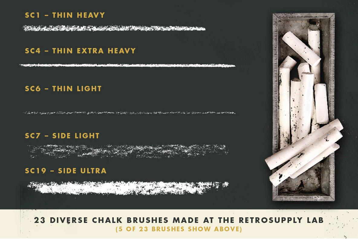 DryGoods   Chalk Brushes for Adobe Illustrator
