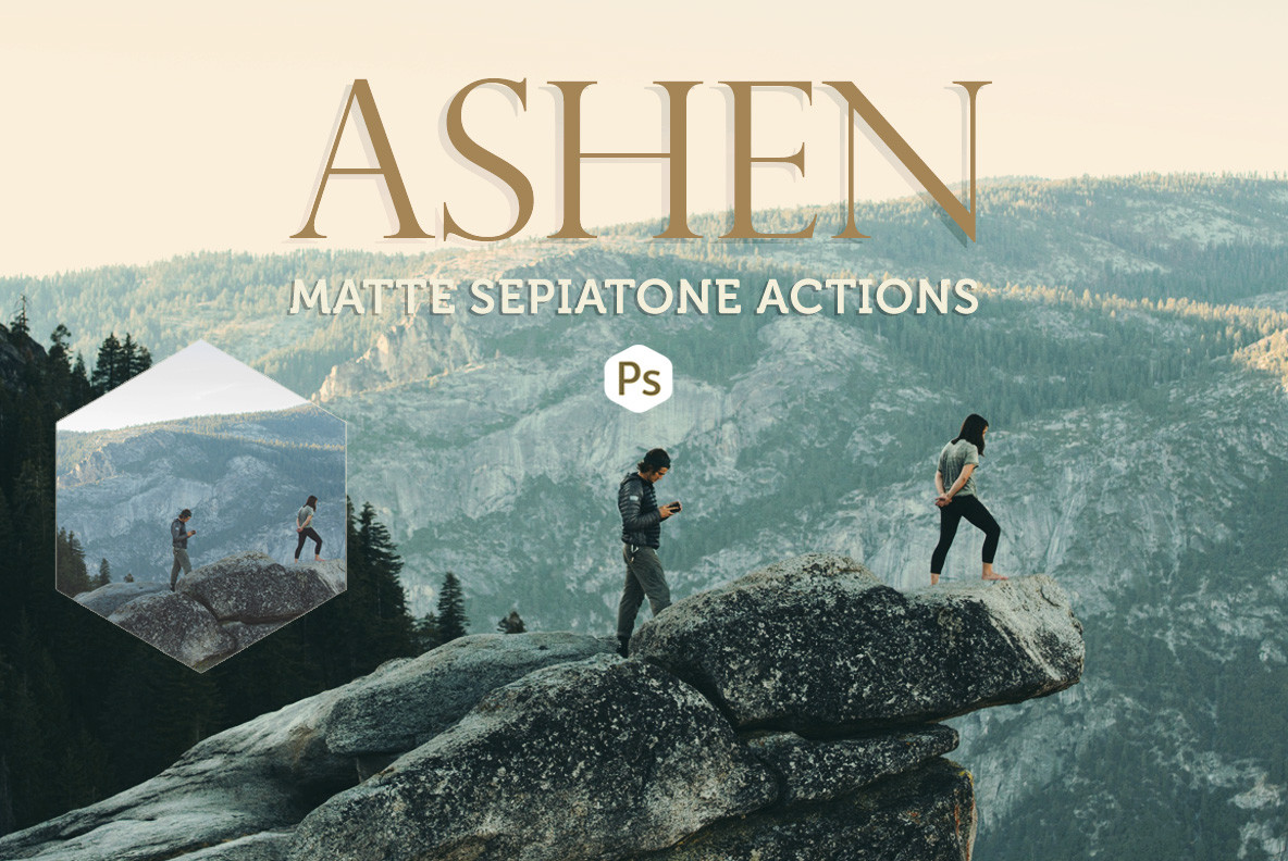 Ashen Landscape Photoshop Actions