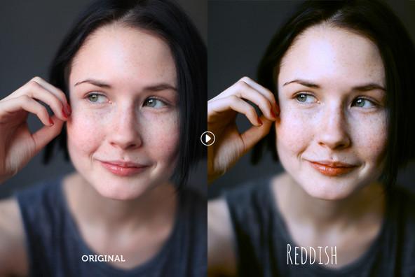 Reddish Photoshop Action