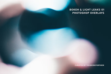 Bokeh  Light Leaks 01   Photoshop Overlays