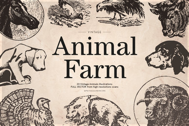 Vintage Animal Farm Illustrations