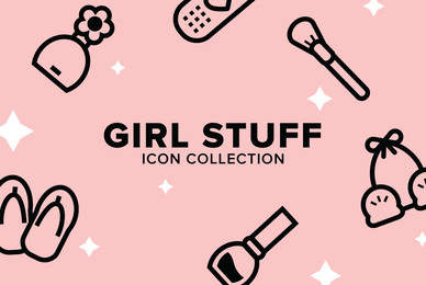 Girl Stuff Icon Collection