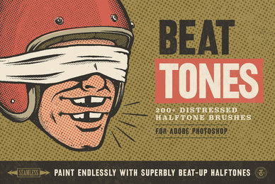 Beat Tones Beat Up Halftone Brushes