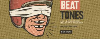 Beat Tones Beat Up Halftone Brushes