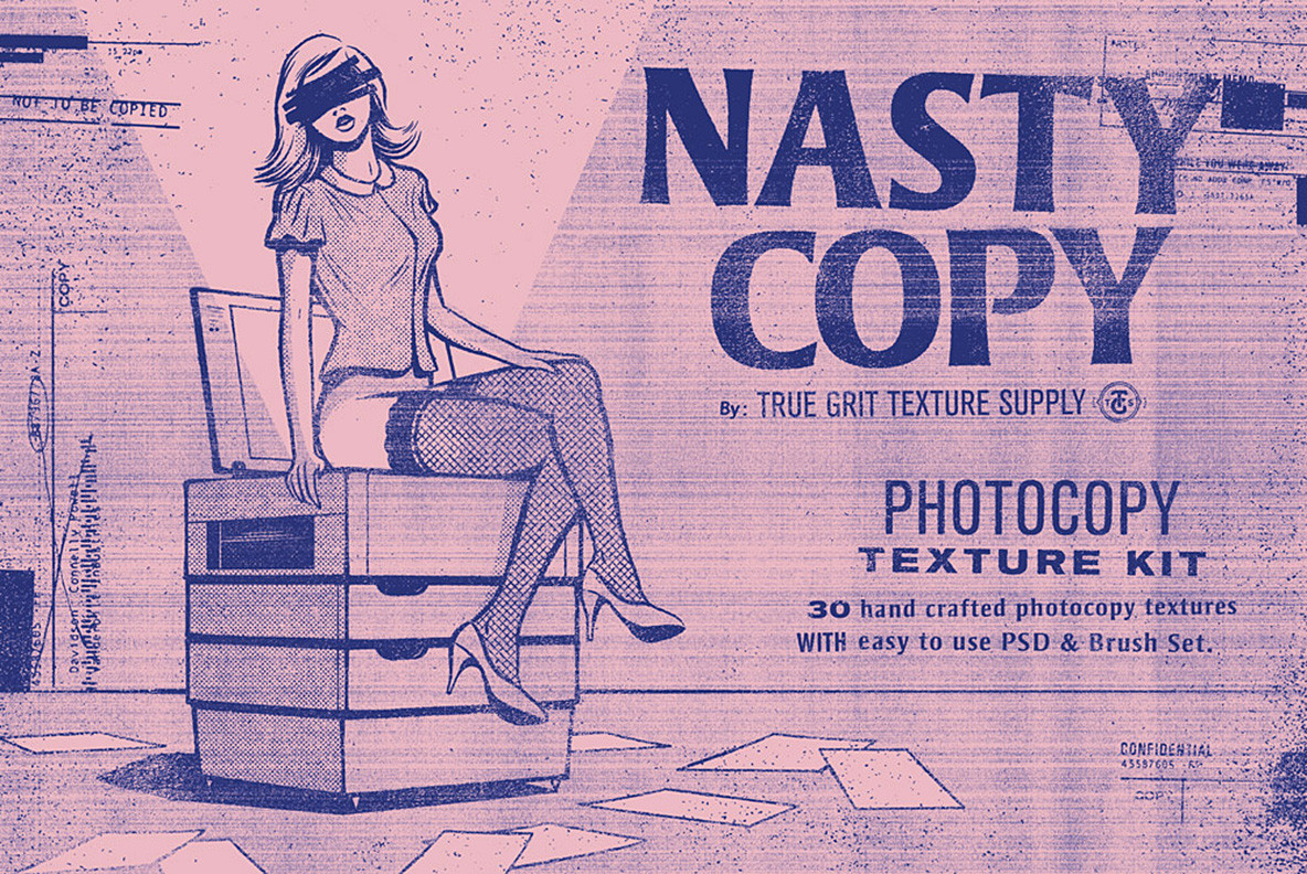 Nasty Copy Photocopy Texture Kit