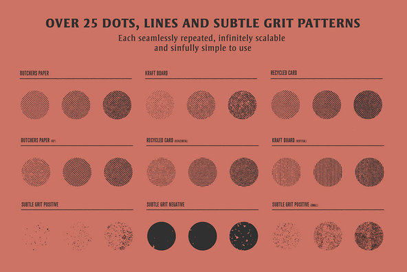 Vector Savior Distressed Halftone Patterns