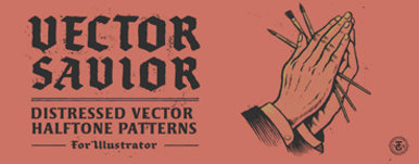 Vector Savior Distressed Halftone Patterns