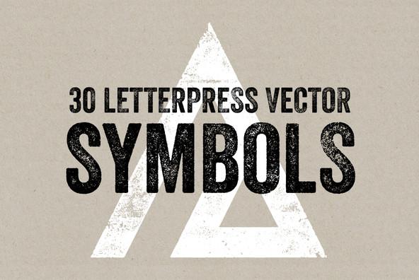 Letterpress Vector Symbols