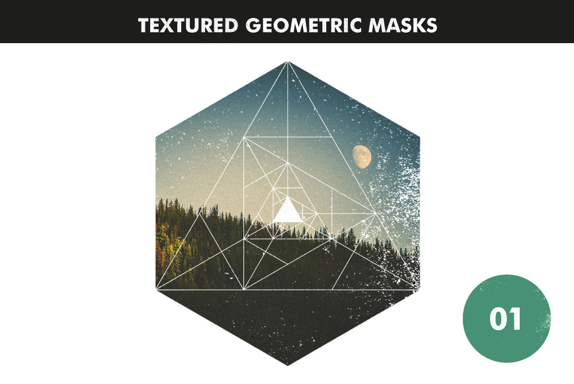 Textured Geometric Masks 01