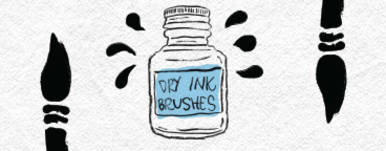 Dry Ink Brushes