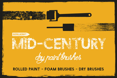 Mid century Dry Paint Brushes