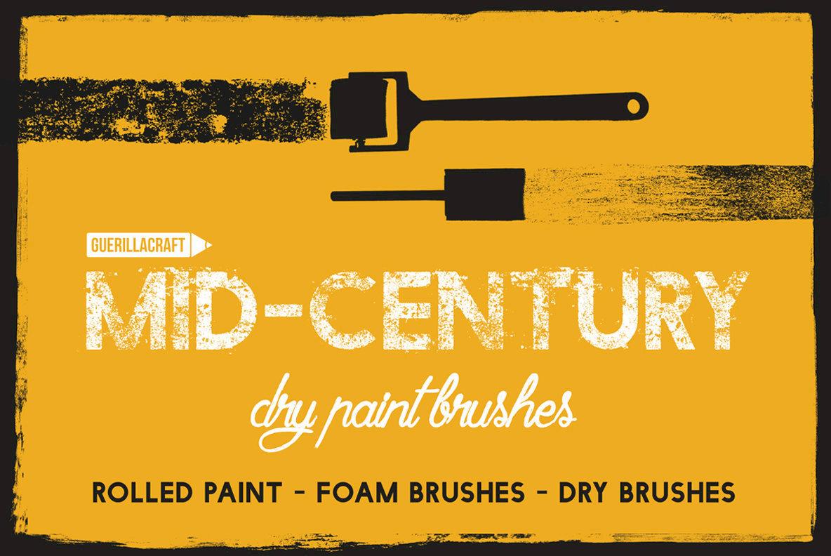 Mid century Dry Paint Brushes