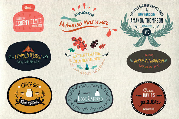 25 Illustrated Logos   Emblems