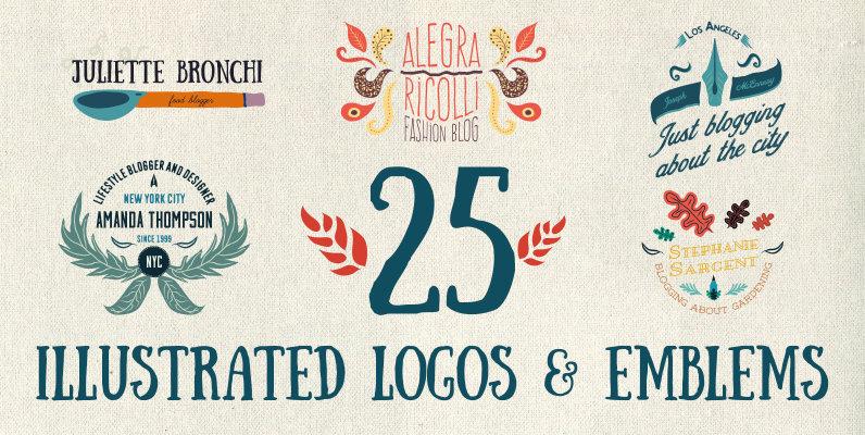 25 Illustrated Logos   Emblems