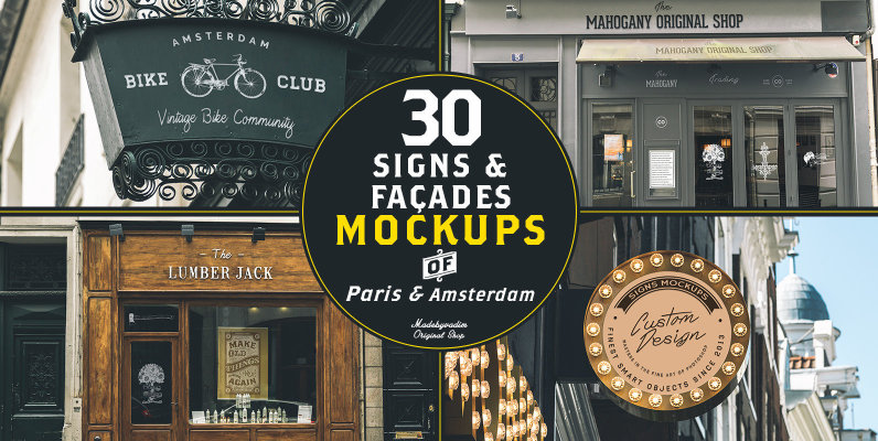 30 Signs & Facades - Paris / Amsterdam