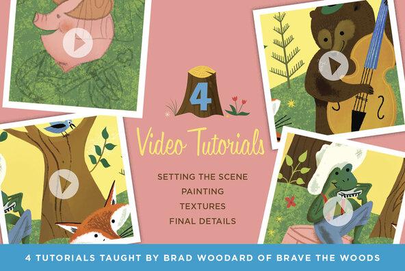Woodland Wonderland Brush   Tutorial Pack