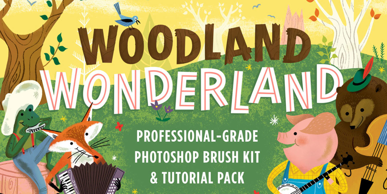Woodland Wonderland Brush   Tutorial Pack