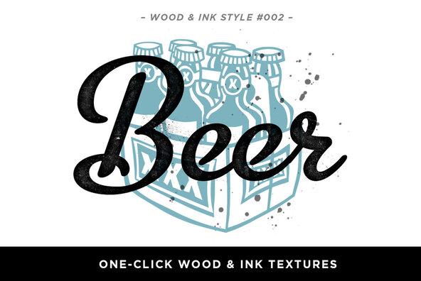 Wood   Ink Photoshop Texture Kit