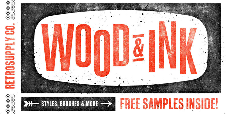 Wood   Ink Photoshop Texture Kit