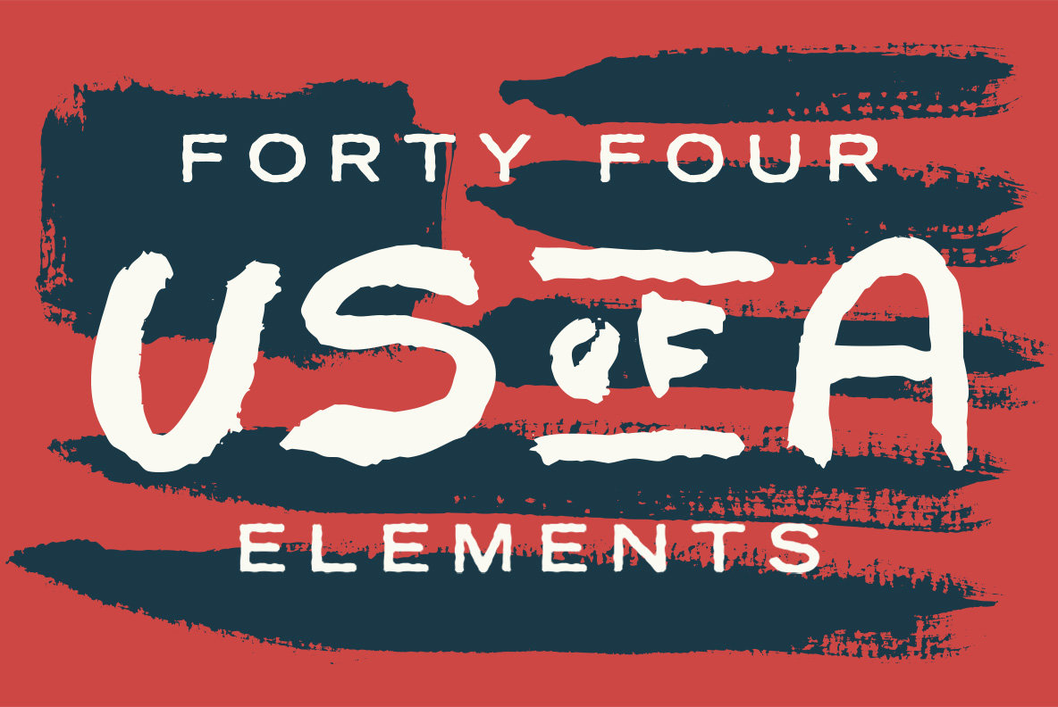 Painted USA Elements