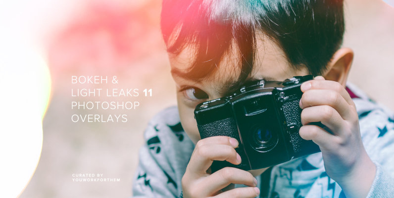 Bokeh & Light Leaks 11 - Photoshop Overlays