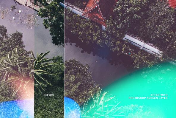 Bokeh   Light Leaks 12   Photoshop Overlays