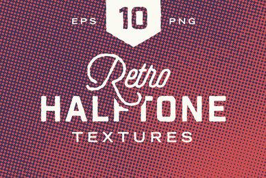 Retro Halftone Textures