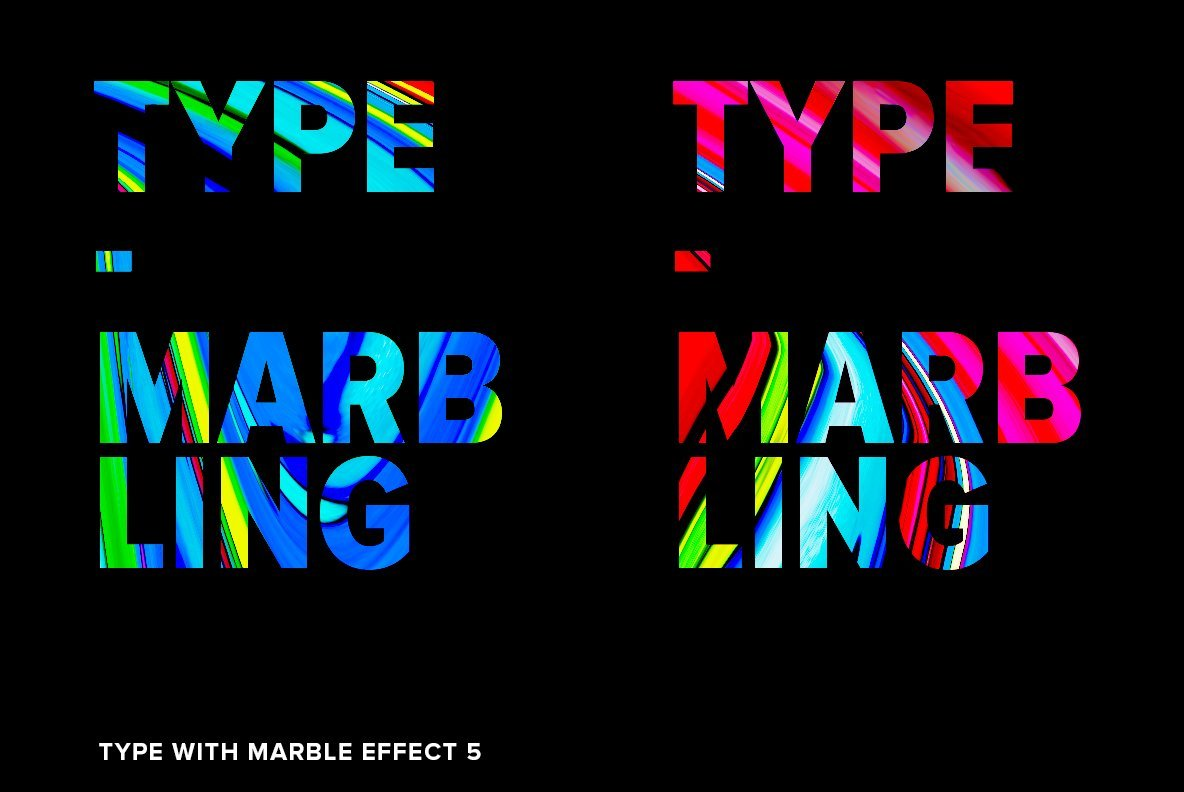 Abstract Type  Marbling