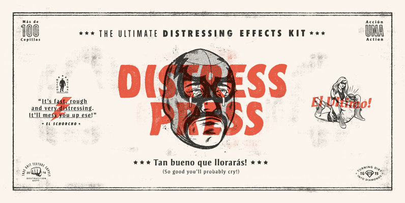 Distress Press: The Ultimate Distressing Effects Kit + Tutorial