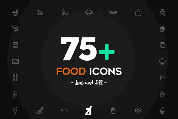 75 Food Icons