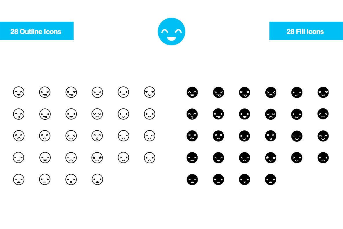 28 Emoticon icons