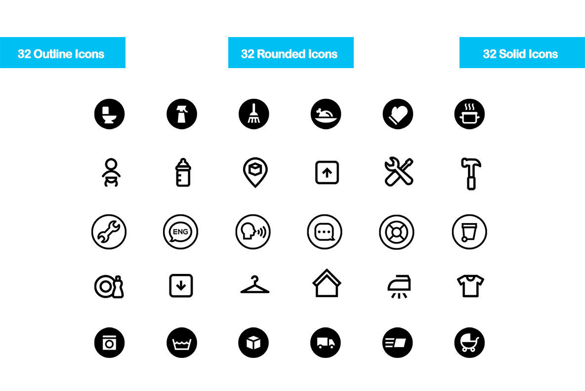 32 Household Icons