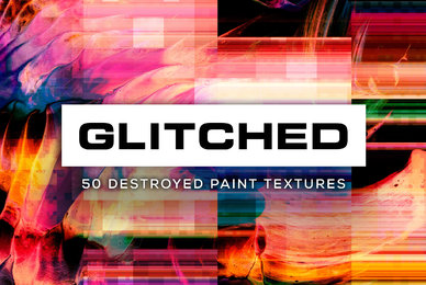 Glitched 50 Destroyed Paint Textures