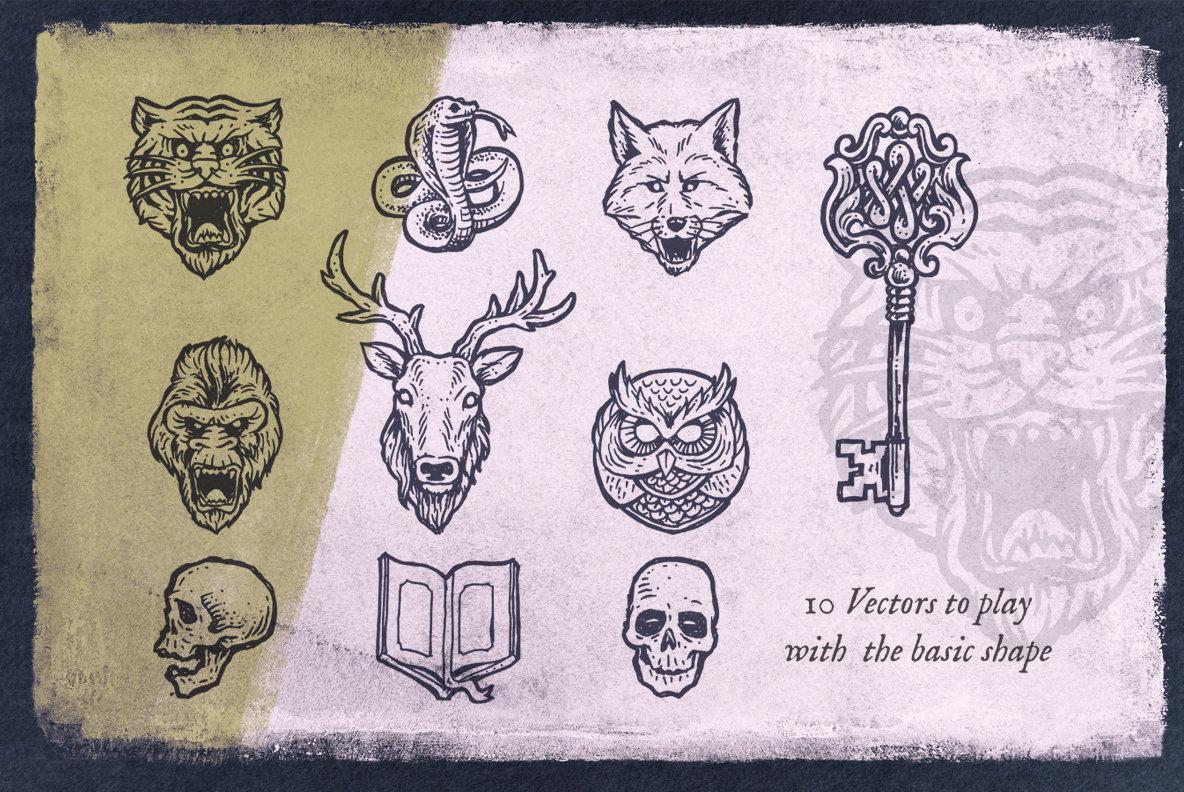 8 Classic Logo Templates