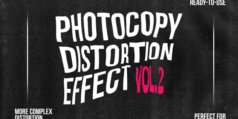 Distorted   Photocopy Vector Effects vol  2