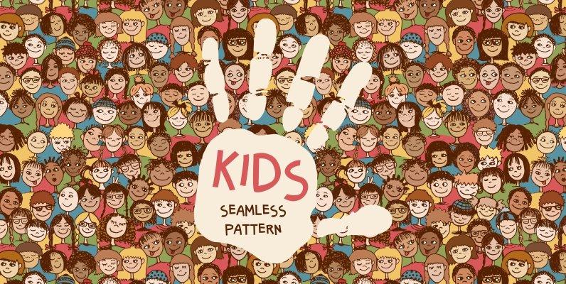 Kids Seamless Pattern