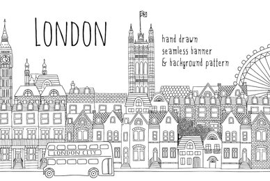 London Seamless Banner  Pattern
