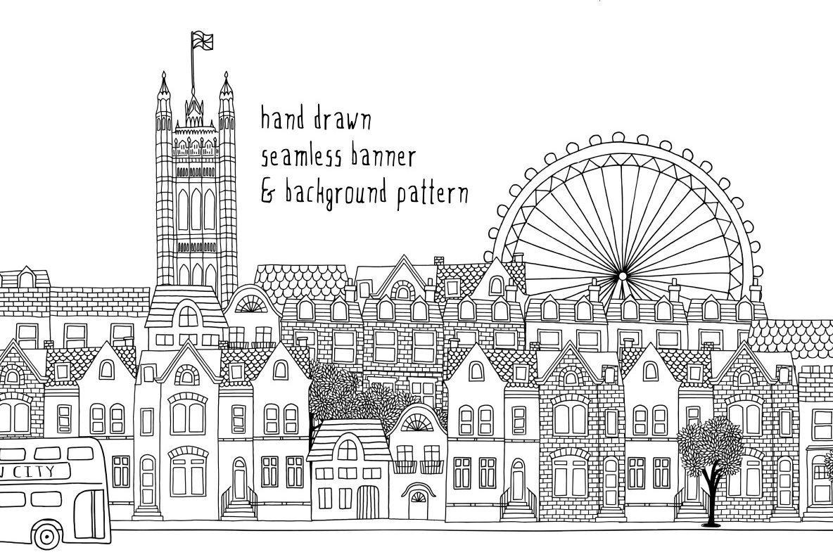 London Seamless Banner   Pattern