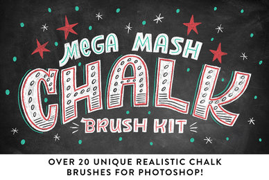 Mega Mash Chalk Brush Kit for Photoshop