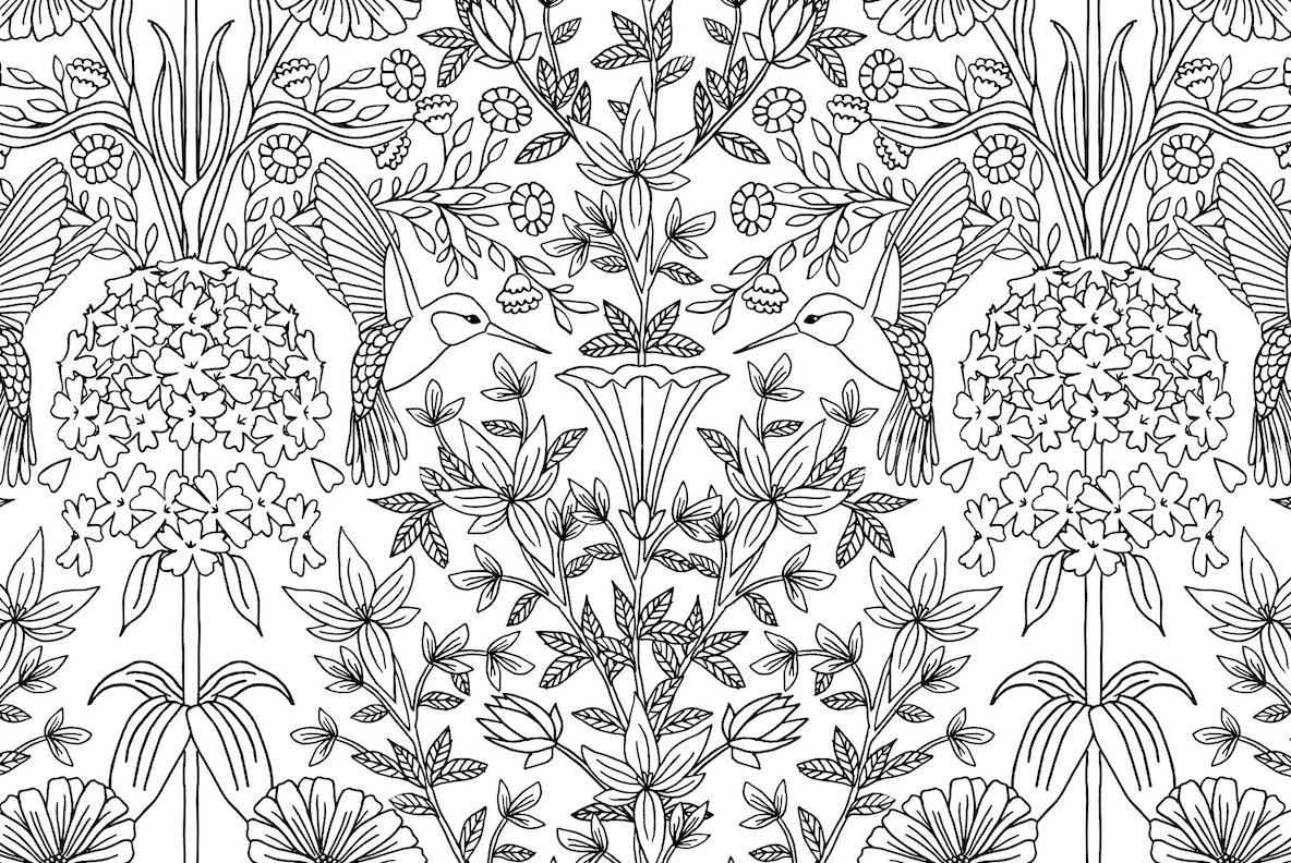 Birds   2 Seamless Patterns