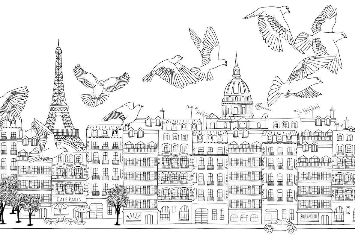 Paris Seamless Banner   Pattern
