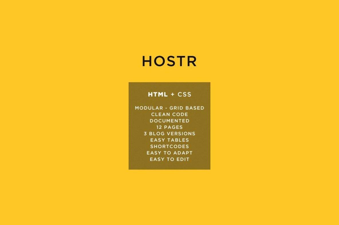 Hostr   HTML Template