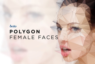 Polygonal Female Faces