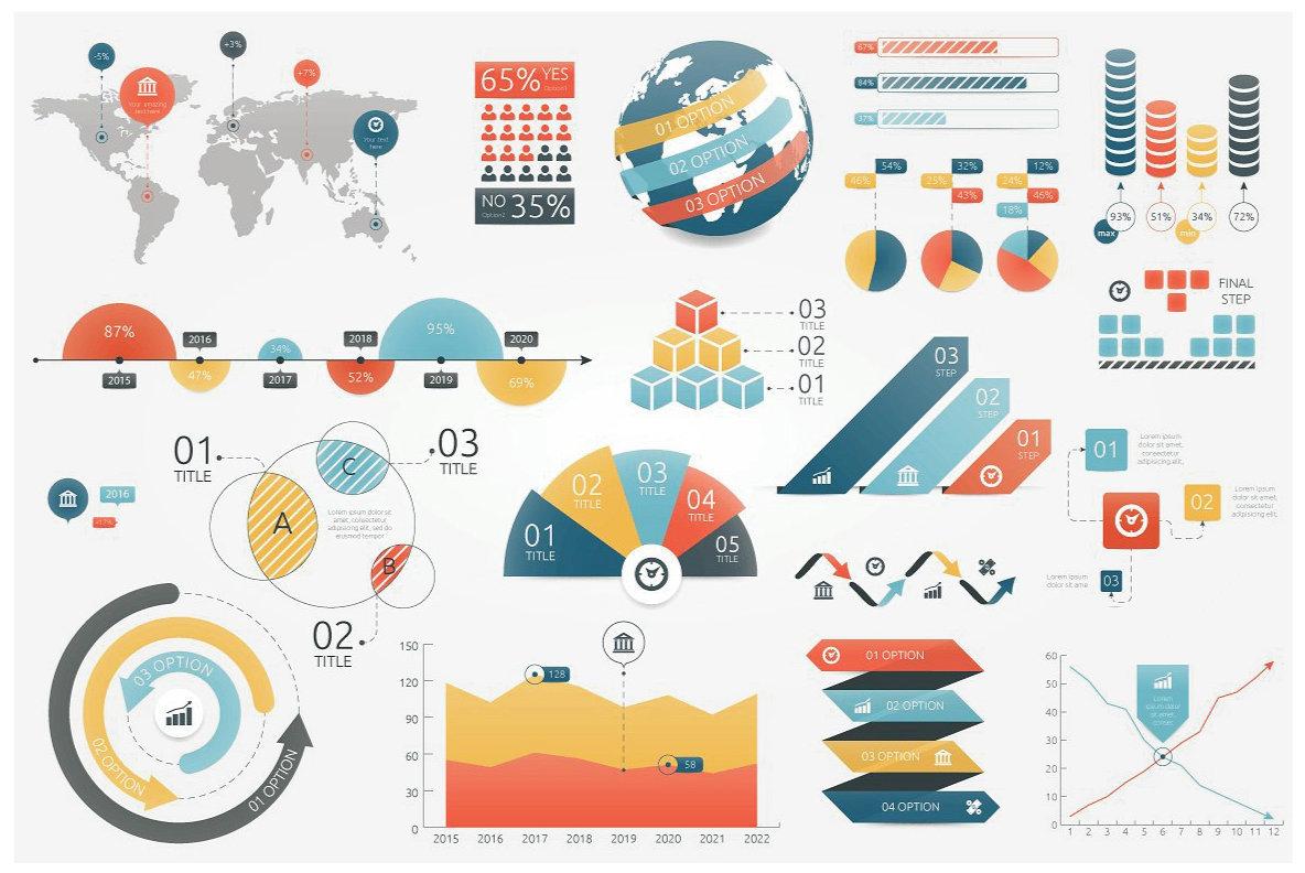 Infographic Elements Bundle  3 in 1  vol 1