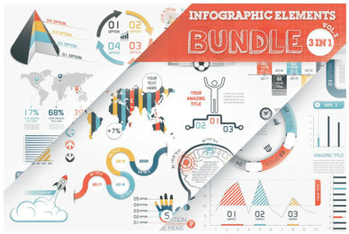 Infographic Elements Bundle 3 in 1 Vol 2
