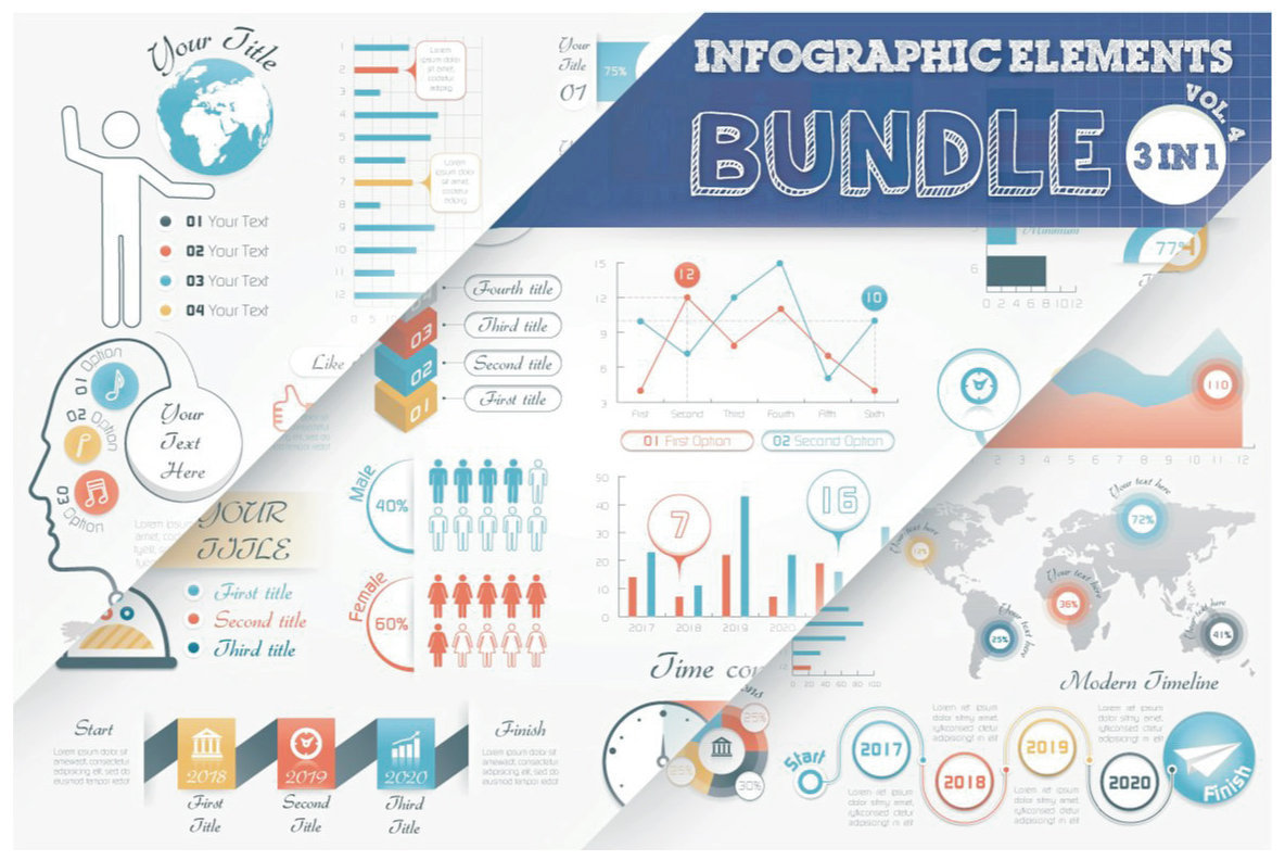 Infographic Elements Bundle  3 in 1  vol 4