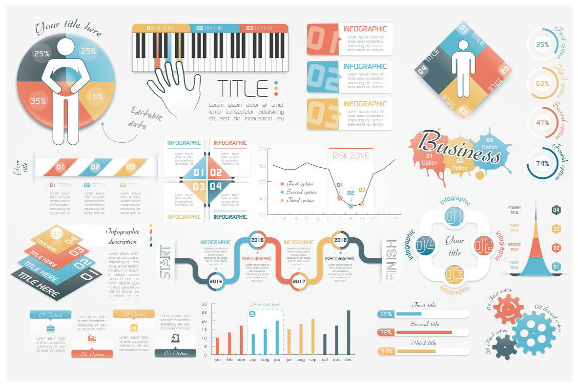 Infographic Elements Bundle  3 in 1  vol 5