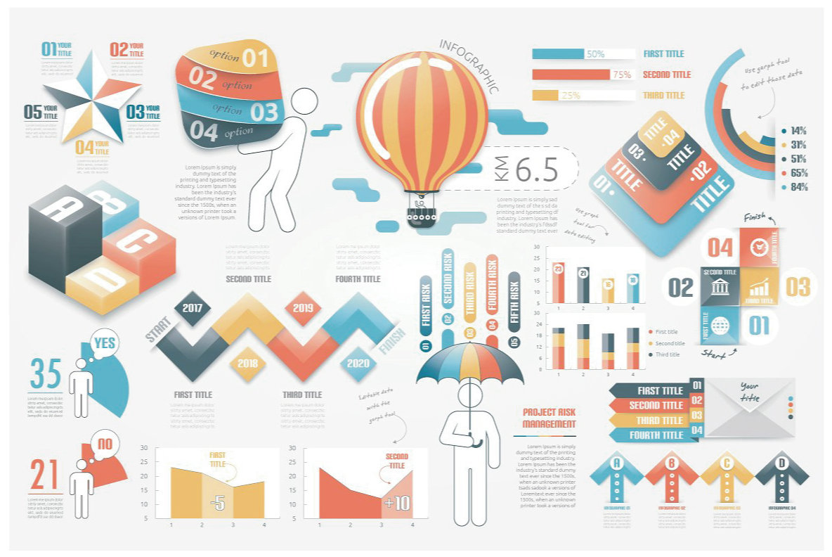 Infographic Elements Bundle  3 in 1  vol 6