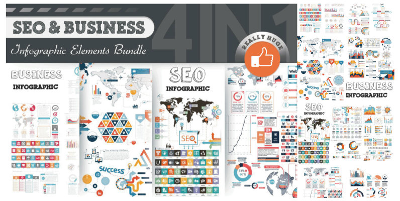 SEO   Business Infographic Bundle