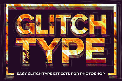 Glitch Type Smart PSD